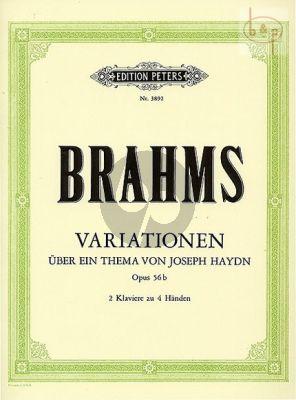 Variationen über ein Thema von Joseph Haydn Op.56b 2 Klaviere