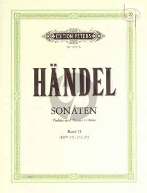 6 Sonaten Vol.2 No.4-6 HWV 371-373  Violine-Bc