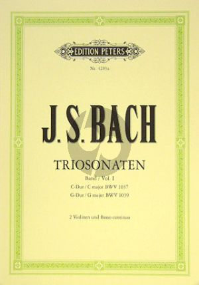 Bach Triosonaten Vol.1 (BWV 1037 -1039) Flöte-Violine (2 Vi.)-Bc (Ludwig Landshoff)