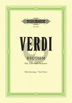 Messa da Requiem Soli-Choir-Orch. Vocal Score