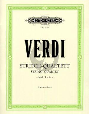 Verdi Quartet e-minor 2 Violins/Viola and Violoncello (Parts) (edited by Carl Herrmann)