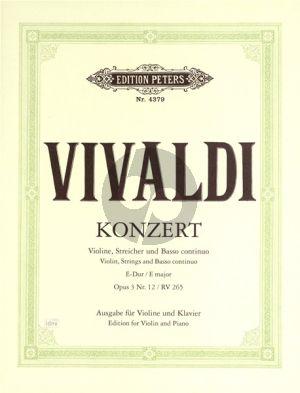 Vivaldi Concerto E-major Op.3 No.12 (RV 265)