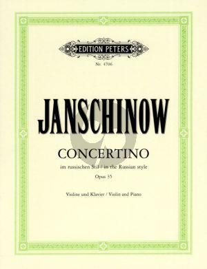 Janschinow Concertino Op.35 im russischen Stil Violine-Klavier