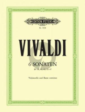Vivaldi 6 Sonaten (RV 40, 41 43, 45-47) Violoncello-Bc. (Diethard Hellmann)