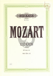 Mozart 12 Duos KV Anh.152 Vol.1 (No.1 - 4) 2 Violinen (Schulz)