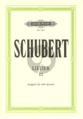 Schubert Lieder Vol.3 (Tief) (Peters)