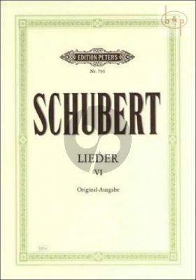 Lieder Vol.6 Gesang und Klavier (Original Ausgabe)