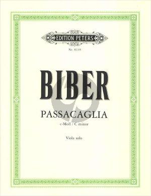 Passacaglia C-Moll (Viola allein) (herausgegeben Walter Lebermann)