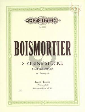 8 Kleine Stucke aus Op.40 Violoncello[Fagott]-Bc