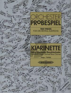 Orchester Probespiel Klarinette / Hohe Klarinette / Bassklarinette (Heinz Hepp und Albert Rohde)