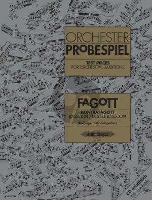 Orchester Probespiel Fagott / Kontrafagott (Kolbinger-Rinderspacher)
