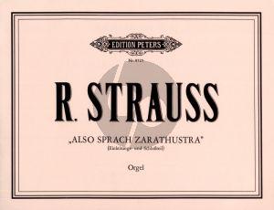 Strauss Also sprach Zarathustra Einleitungs- und Schlussteil Op.30 bearbeitet fur Orgel (Hans Georg Pfluger)