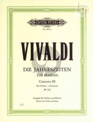 Concerto Op.8 No.3 RV 293 F-major (L'Autunno) (Violin-Str.-Bc.)