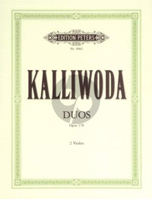 Kalliwoda 3 sehr leichte und Konzertante Duos Op.178 2 Violas (Matz)