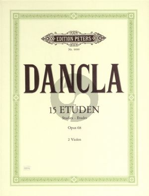 Dancla 15 Etuden Op.68 (Edition for Viola)