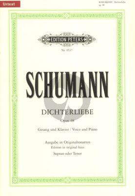Schumann Dichterliebe Op.48 Hohe Stimme und Klavier (nach Gedichten von Heinrich Heine Ausgabe in Originaltonart) (Urtext)