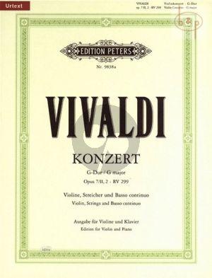 Concerto G-major Op.7 No.II, 2 (RV 299 /P 102)