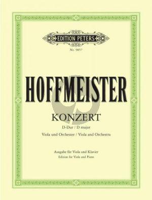 Hoffmeister Konzert D-dur Viola-Orchester Klavierauszug (Richter/Bauer)