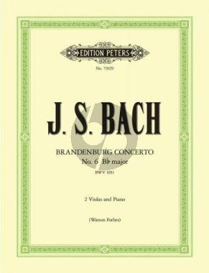 Bach Brandenburg Concerto No.6 B-flat major BWV 1051 2 Violas-Piano (Watson Forbes)