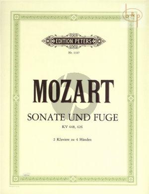 Sonate und Fuge KV 448 / 426 2 Piano's 4 hds
