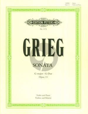 Grieg Sonata G-major Op.13 Violin and Piano (Peters)