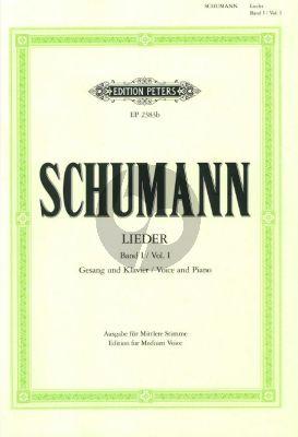 Schumann Lieder vol.1 (Mittel) (Nach den Handschriften und Erstdrucken)