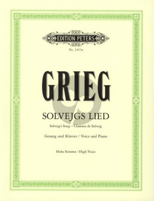 Grieg Solvejg's Lied aus Peer Gynt Op.23 Gesang (Hoch) und Klavier (Deutsch/English/Franzosisch)