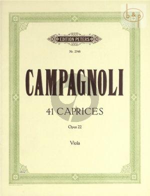 41 Caprices Opus 22 Viola