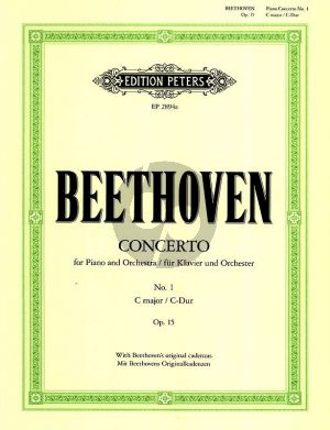 Beethoven oncerto No.1 Op.15 C Major (Reduction 2 Pianos Max Pauer) (with Beethoven's Original Cadenza Peters)