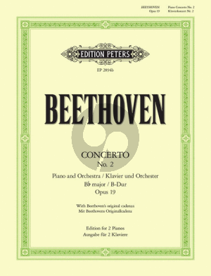 Beethoven Concerto No.2 Op.19 B Dur (reduction 2 Piano's Max Pauer) (with Beethoven's Original Cadenza Peters)