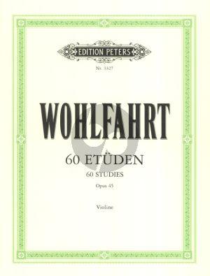 Wohlfahrt 60 Studien Op.45 Violine (Sitt)