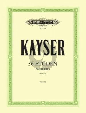Kayser 36 Etuden Op.20 Violine (Hans Sitt)