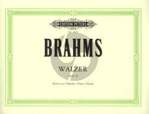 Brahms Waltzes Op. 39 Piano 4 hands