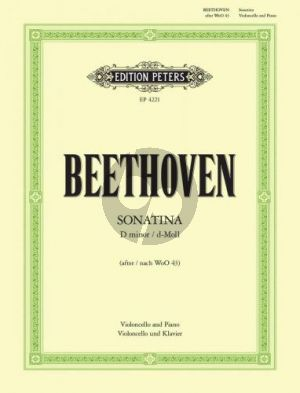 Beethoven Sonatina d-minor (after WoO 43) Violoncello-Piano (Stutschewsky)
