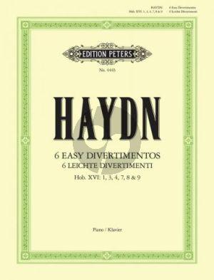 Haydn 6 Leichte Divertimentos (Hob.XVI: 1,3,4,7,8 & 9) Klavier
