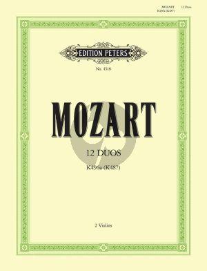Mozart 12 Easy Duets KV 487 (496a) 2 Violinen (Irmgard Engels)