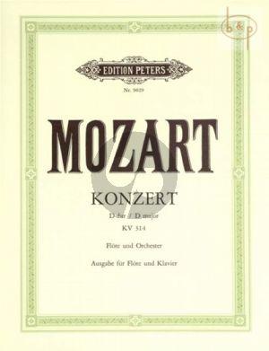 Mozart Konzert No. 2 D-dur KV 314 Flöte und Klavier (Erich List) (Kadenzens von J.Donjon und der Herausgeber)