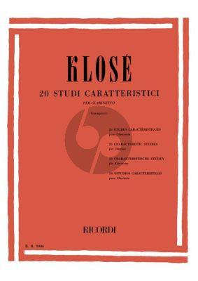 Klose 20 Characteristic Studies (Clarinet)