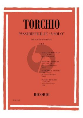 Torchio Difficult Passages and 'Solos' Vol.2 Flute