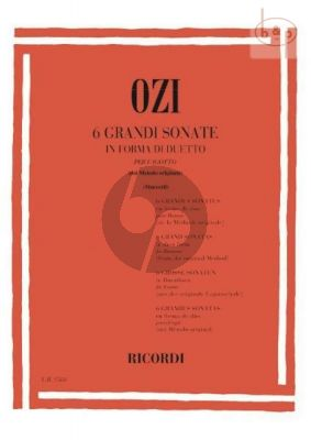 Ozi 6 Grand Sonatas in Duet Form 2 Bassoons (Muccetti)