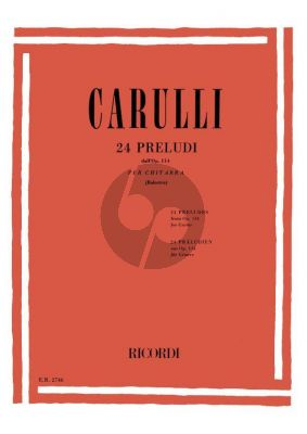 Carulli 24 Preludes (from Op.114) Guitar