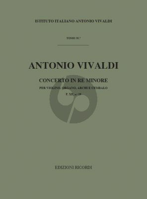Vivaldi Concerto d-minor RV 541 Violin-Organ-Strings-Bc (Score) (edited by F. Malipiero)