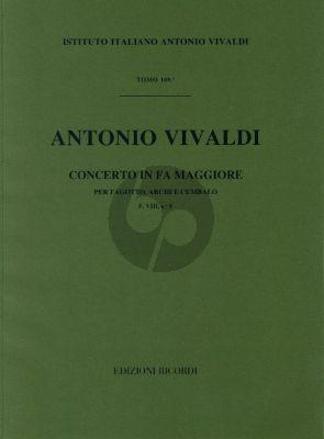 Vivaldi Concerto F major F.VIII n.8 bassoon-strings-cembalo