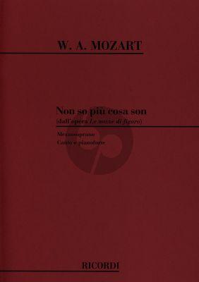 Mozart Non So Piu Cosa Son Mezzo Soprano and Piano (from le Nozze di Figaro)