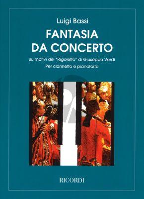 """Bassi Fantasia su motivi del """"Rigoletto"""" de Verdi Clarinet-Piano (Giampieri)"""