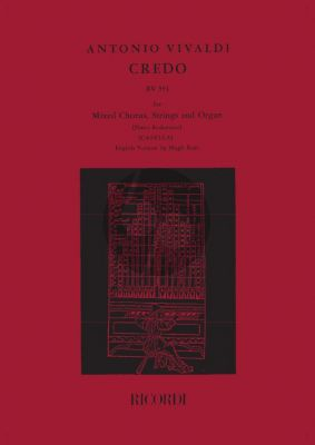 Credo RV 591 SATB-2 Vi.-Va.-Bc Vocal Score