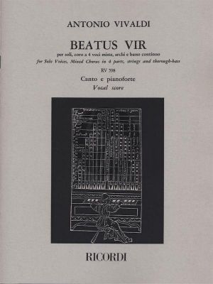 Vivaldi Beatus Vir RV (Psalm 111) 598 Soli-Choir-Strings-Bc (Vocalscore) (Azio Corghi)