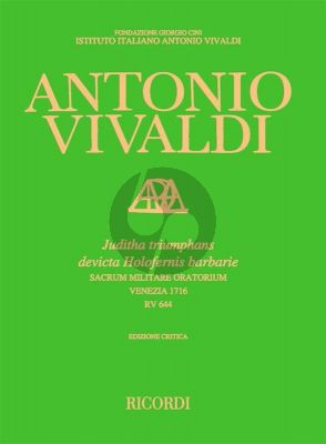 Vivaldi Juditha Triumphans Sacrum Militare Oratorium (RV 644)
