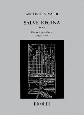 Vivaldi Salve Regina (Antifona RV 616) Alto Voice and Orchestra (Vocal Score) (edited by Pigato)