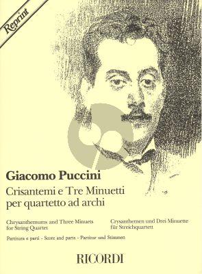 Puccini Crisantemi & 3 Minuetti 2 Vi.-Va.-Vc. (Score/Parts)